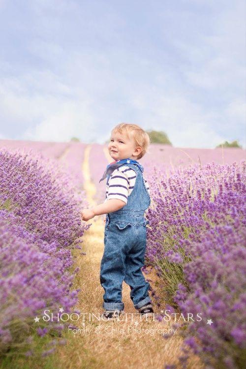 Baby Boy in a Lavender Blue Sea