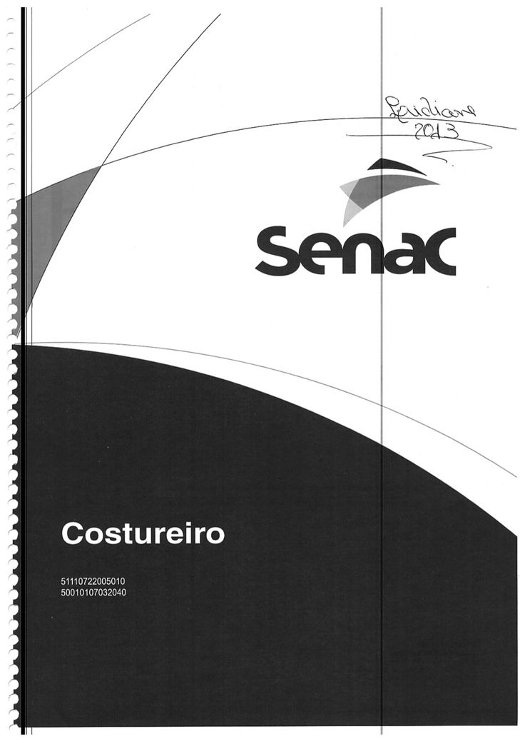 Senac Costureiro Paginas Impares By Denize Bartolo Medeiros Via