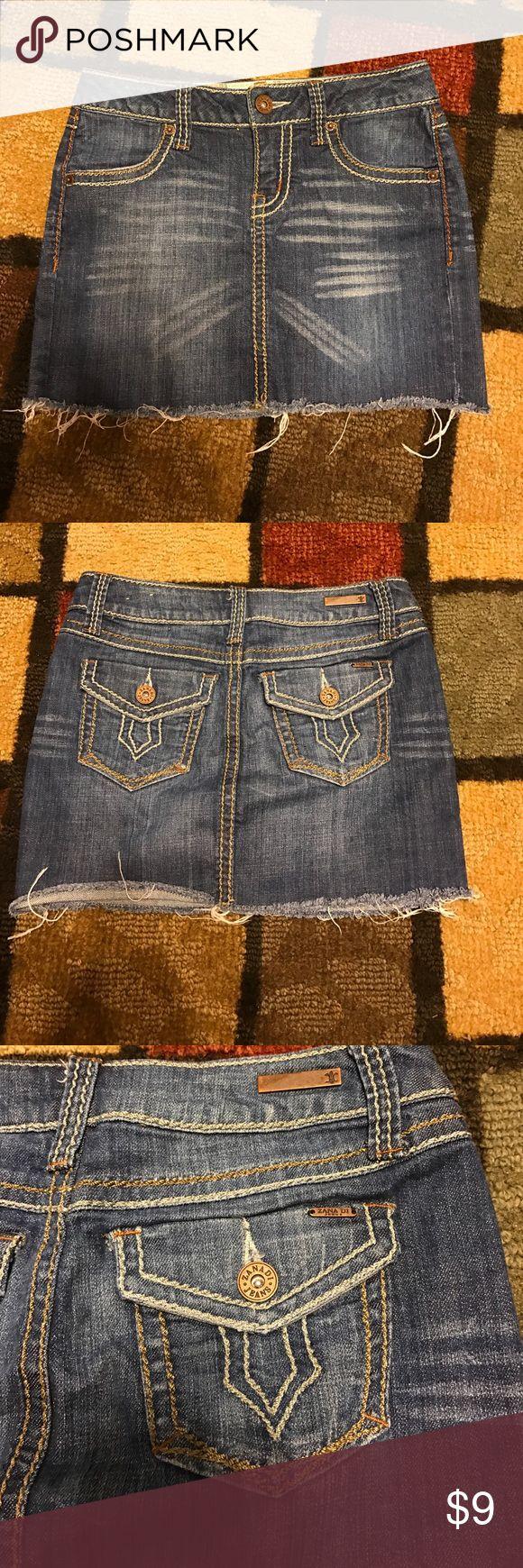 Cute Zanadi jeans cutoff mini skirt size 1 Cute cutoff Zanadi jeans mini skirt size 1 in great condition zanadi jeans Skirts Mini