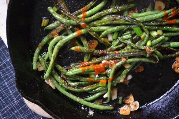 Szechuan green beans 3 585x388 Sweet & Spicy Szechuan Green Beans