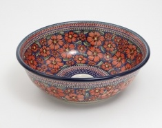 This poppy washbasin is hand painted. Comes from Poland. Very nice !