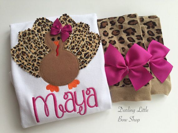 Baby Girl Thanksgiving Outfit bodysuit and by DarlingLittleBowShop