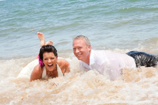 Trash the Dress! Plan your Cairns beach wedding now with Australian Dream Weddings.