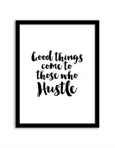 Free Printable Hustle Art from @chicfetti - easy wall art DIY