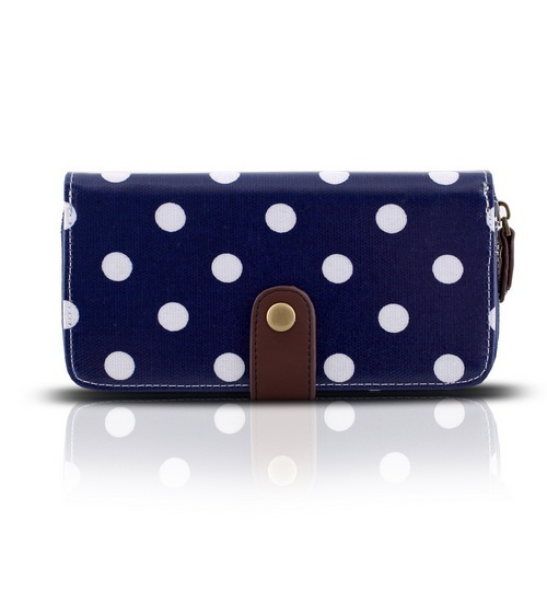 Cath Kidston Blue Purse Polka Dots on glamouronthego.co.uk