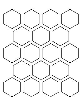 2 inch hexagon pattern over 1000 patterns free if 1 at a time