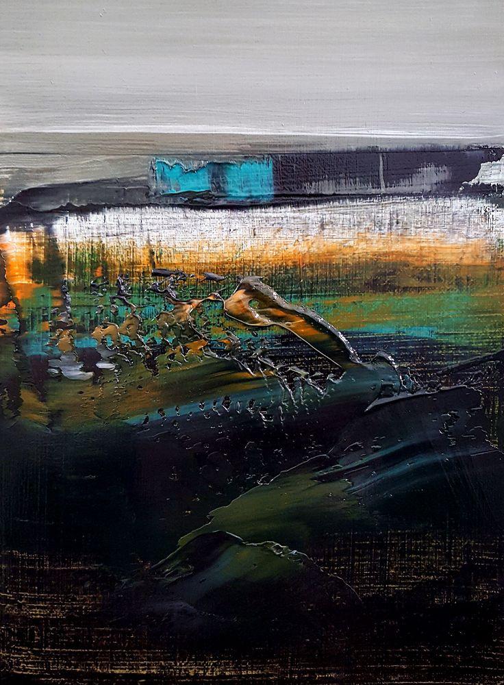 Giardino serale, olio su tela 24x18 cm.