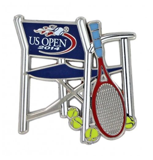 網球場的路上。to the tennis court: 2014美網紀念品與胸針 - 2014 US Open survivors: badges