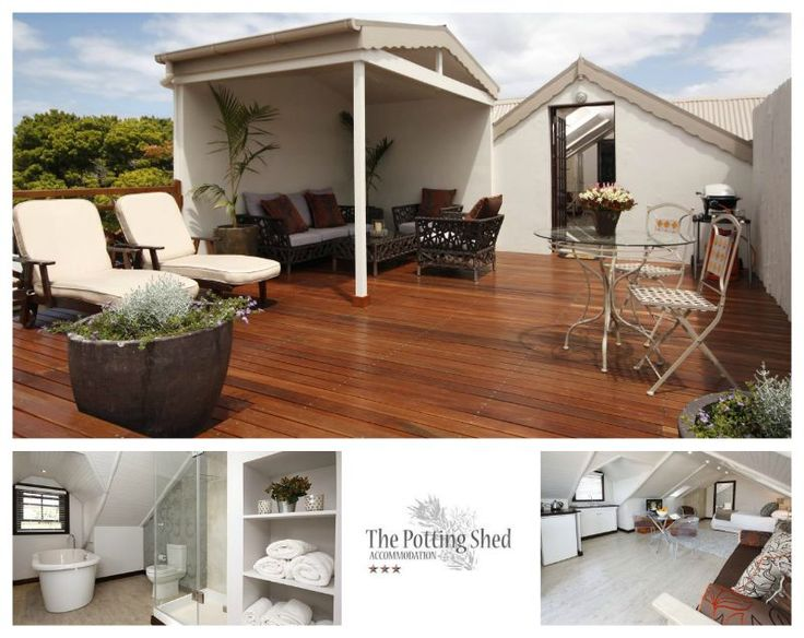 The Potting Shed Accommodation Address: 28 Albertyn Street, Hermanus Tel: 028 312-1712 Email: potshed@hermanus.co.za