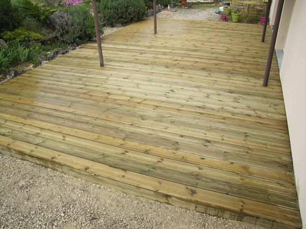 15 best Terrasse palette images on Pinterest Wooden decks - poser terrasse bois sur herbe