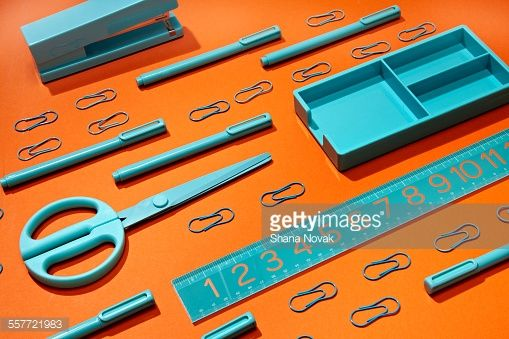 Stock Photo : Grouping of Office Supplies