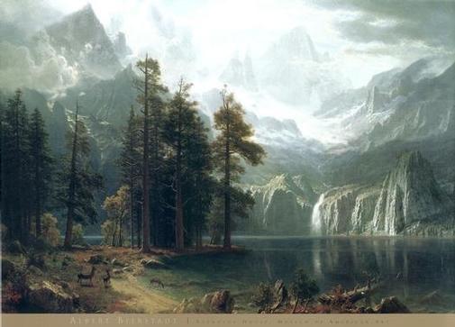 Albert Bierdstadt Sierra Nevada Hudson River School of Painting