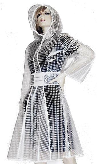 50's Mac Clear PVC Transparent Raincoat Plastic Vynil Flared Retro Vintage Vizor | eBay