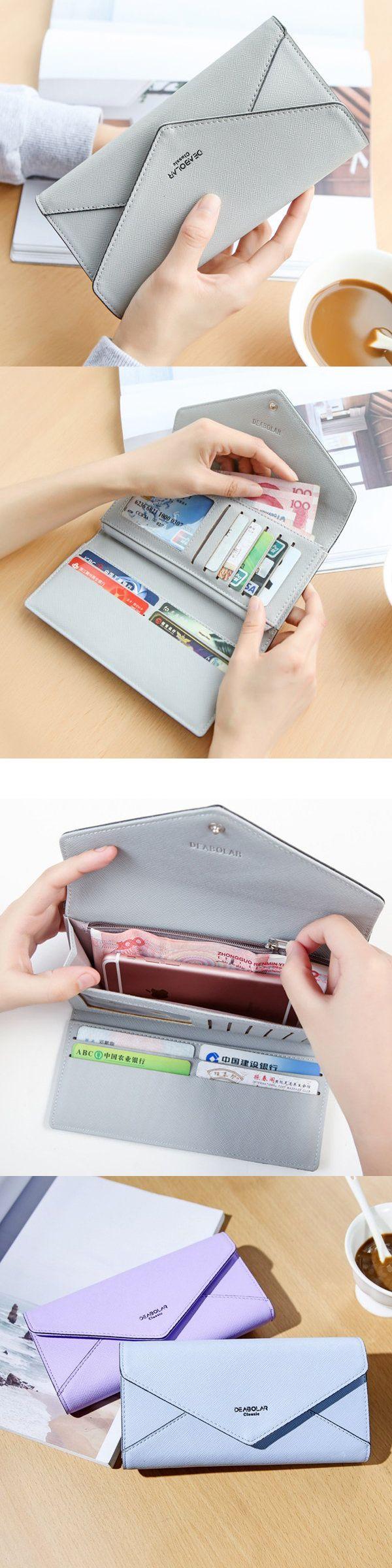 $8.51 Women Envelope Design Patchwork Wallet Card Bag Casual Purse Wallet
