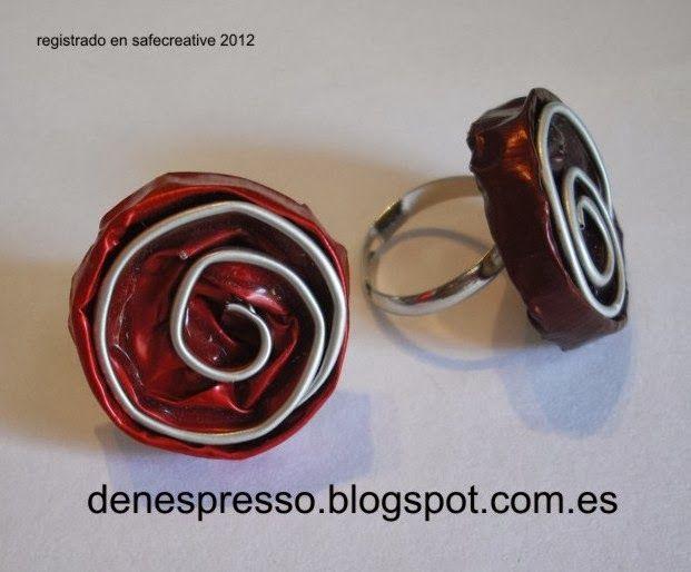 anillo nespresso bisuteria capsulas recicladas