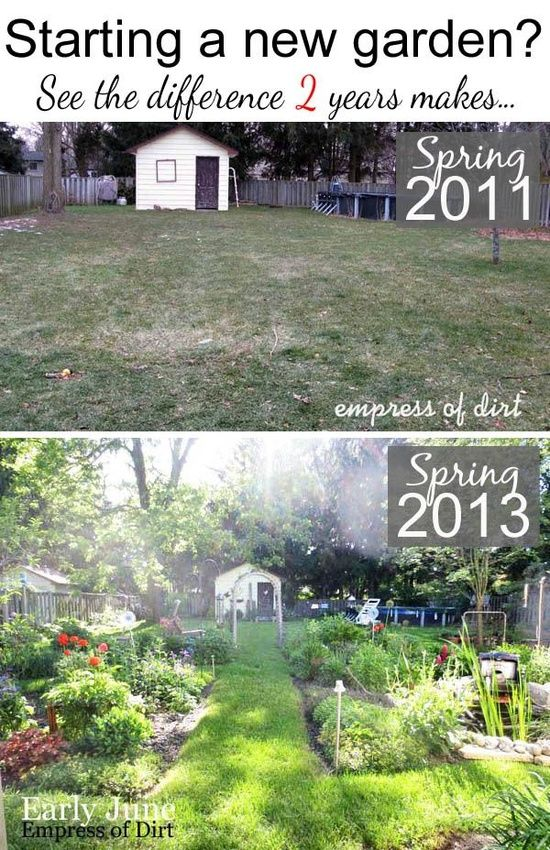 The difference just 2 years makes - see the garden before and 2 years later