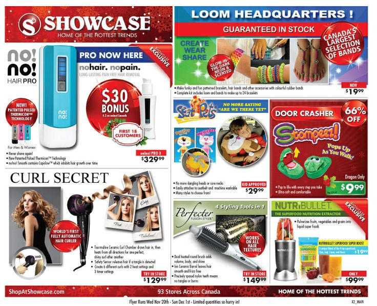 Looking for that perfect Holiday gift?  Check out Showcase's new flyer at:  http://www.shopatshowcasecanada.com/flyers.html