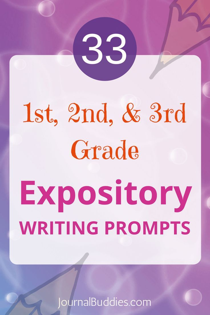 Expository Writing Prompts 1st, 2nd, 3rd graders