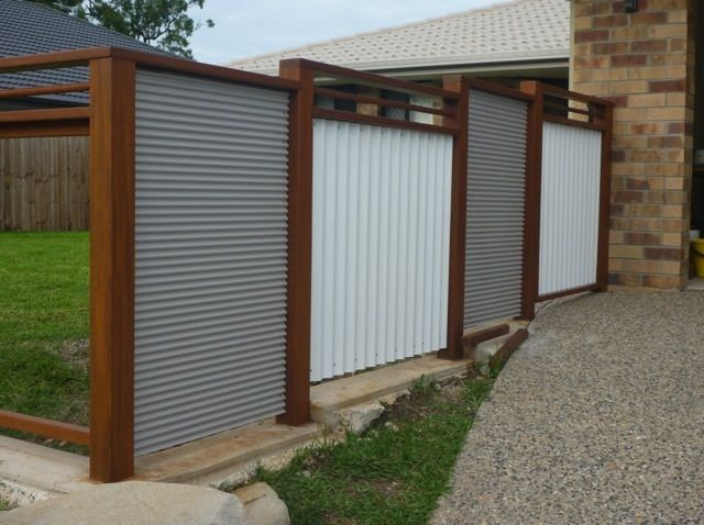 Metal And Wood Fencing Google Search