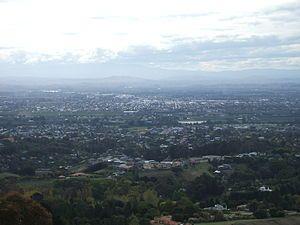 Hastings District from Peak, Hastings, New Zealand