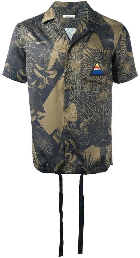 Iceberg palms print shortsleeved shirt