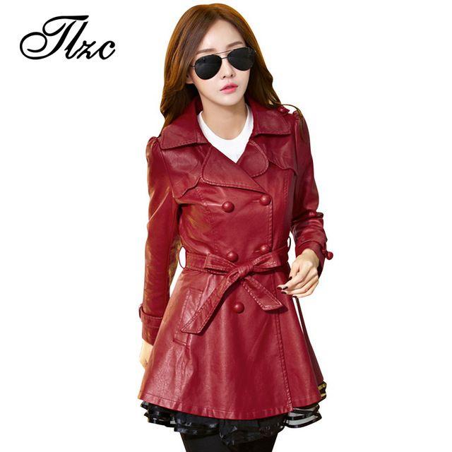 Tlzc mulheres trincheira cinto casaco arco plus size m-4xl 2017 rendas coreano magro trespassado lady outwear inverno mulher clothing