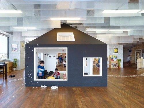 arquitectura guarderia 1 500x377 Espacios Cool para Niños: Guardería Kiddy Shonan C/X en Kanagawa, Japón