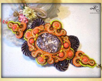 Art nouveau artistic bracelet soutache bracelet gift by MagdoTouch