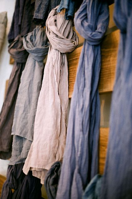 linen + chambray scarves