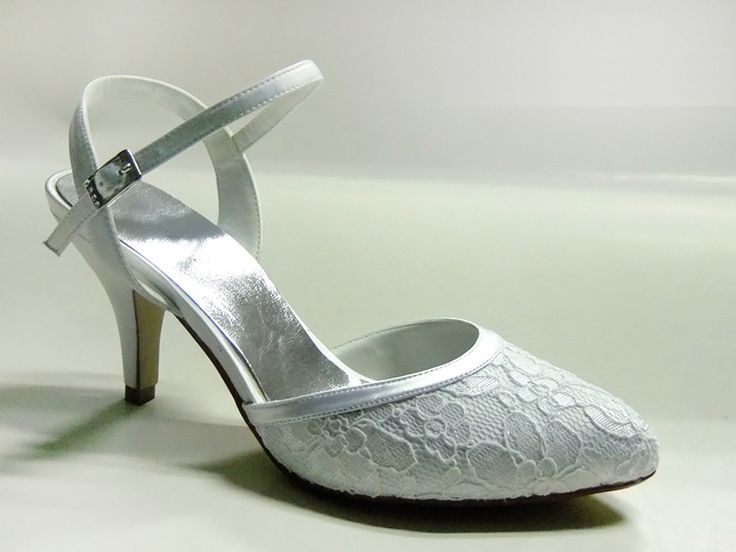 #AnellaWeddingShoes Hanli Style with #Lace www.weddingshoes.co.za Available from September 2014 Can be dyed to any colour!