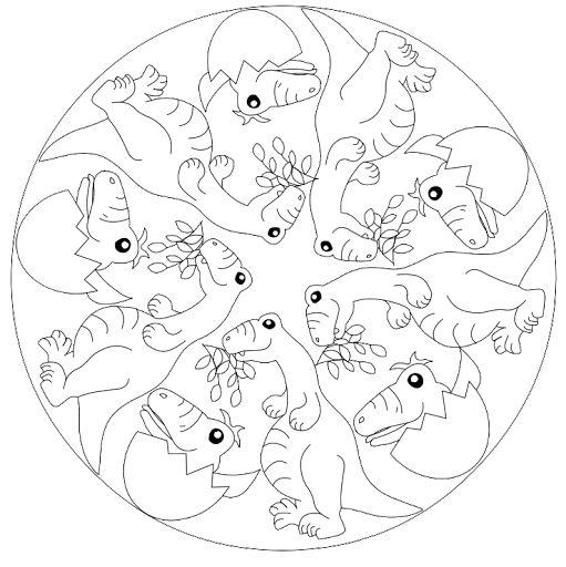 87 best theme dinosaure images on pinterest dinosaures - Mandala dinosaure ...