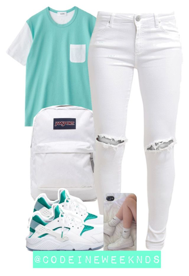 """8:25:15"" by codeineweeknds ❤ liked on Polyvore featuring JanSport, FiveUnits and NIKE"