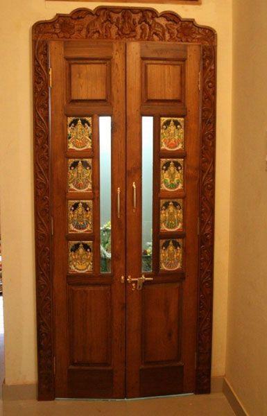 117 best pooja room ideas images on pinterest for Room door design photos