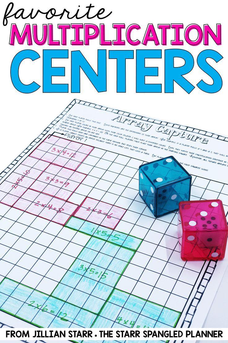 10 Multiplication Math Center Games & Activities