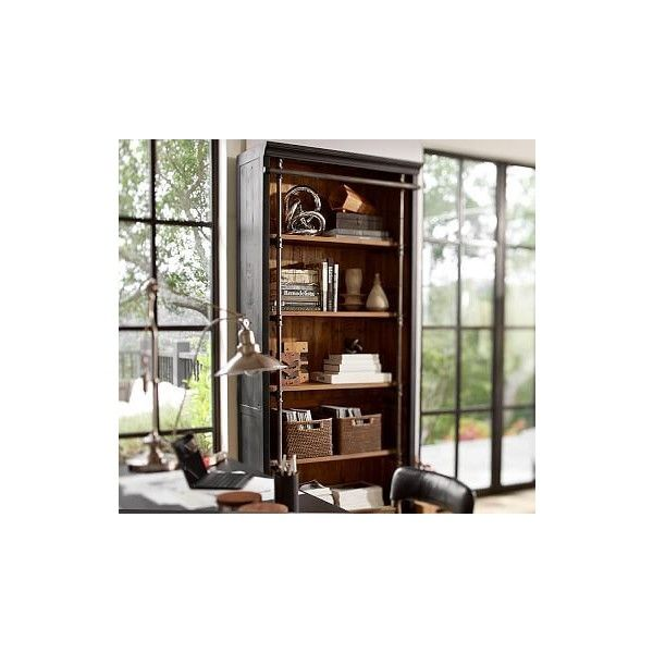 Pottery Barn Gavin Bookcase ($1,899) ❤ liked on Polyvore featuring home, furniture, storage & shelves, bookcases, book-shelves, pottery barn, pottery barn bookshelves, pottery barn book shelves and adjustable book shelves
