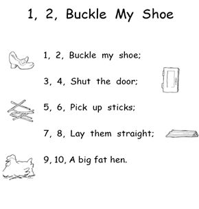 25 best ideas about nursery rhymes kindergarten on pinterest for 1 2 buckle my shoe 3 4 shut the door