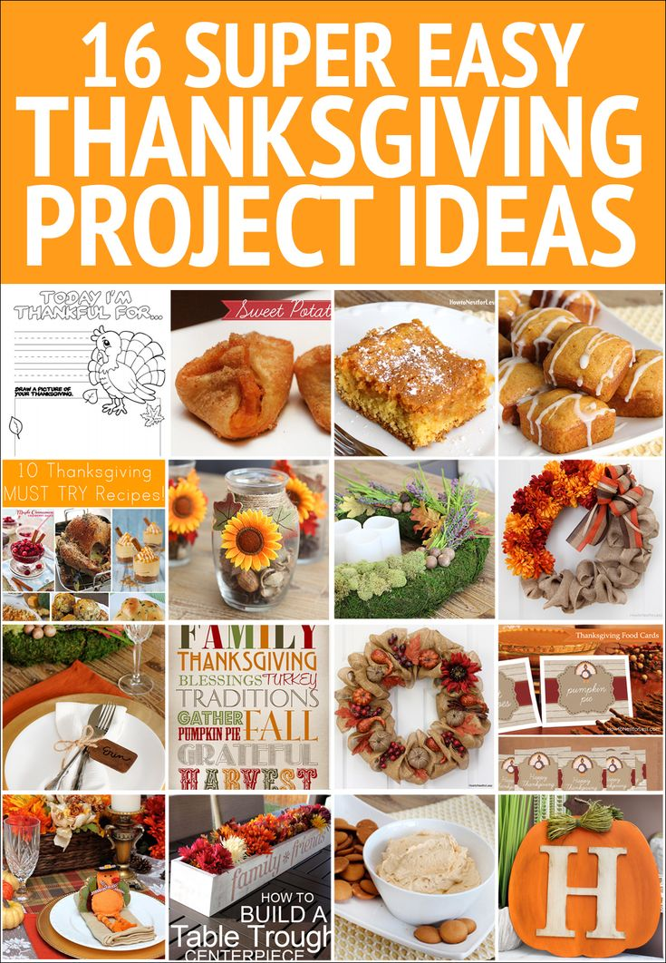 SUPER EASY THANKSGIVING PROJECT IDEAS. From centerpiece ideas to recipes to wreaths. LOTS of ideas!