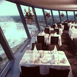 Buffet lunch at the Skylon Tower in Niagara Falls Ontario. Good food and fantastic view