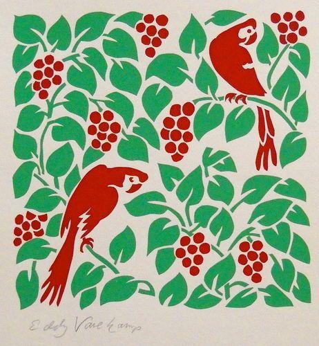 Parrots - Stencilprint