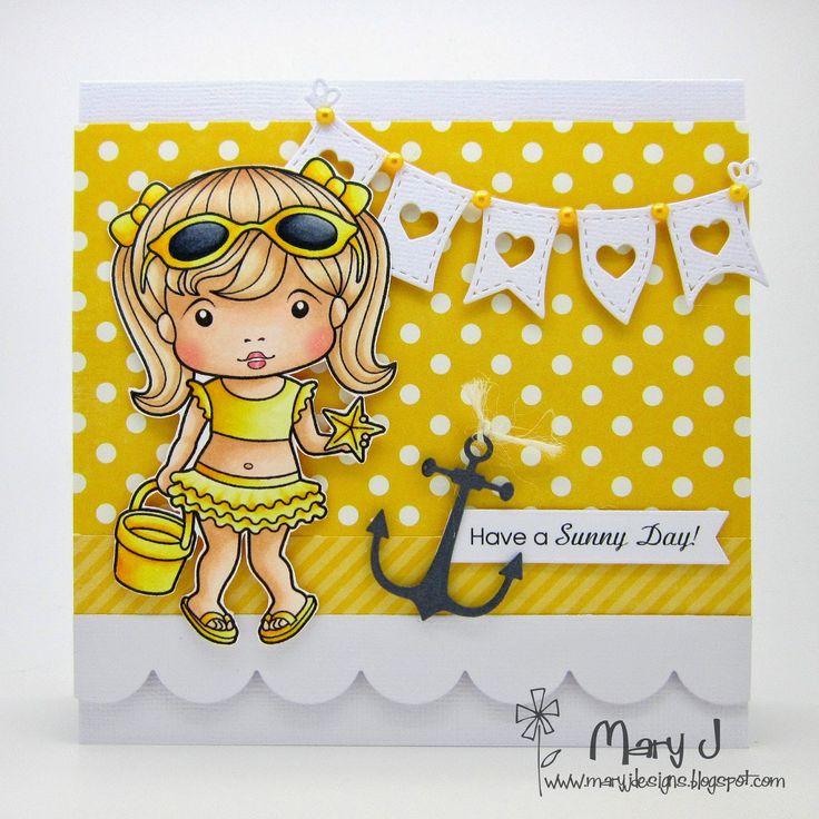 Using La-La Land Crafts Sunny Marci stamp set and dies