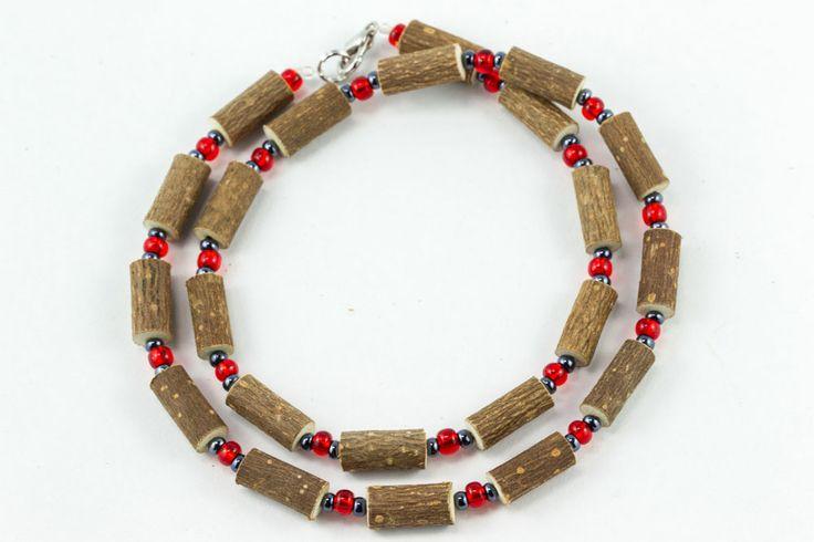 Women Hazel Necklace - red/hematite - Healing Hazel