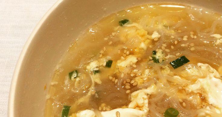 しらたきが食べたい! スープを飲みたい! しかもローカロリーで! ってことで適当に作ってみたら美味しかったレシピですw