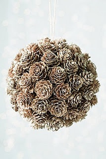 Hanging pine cone decor