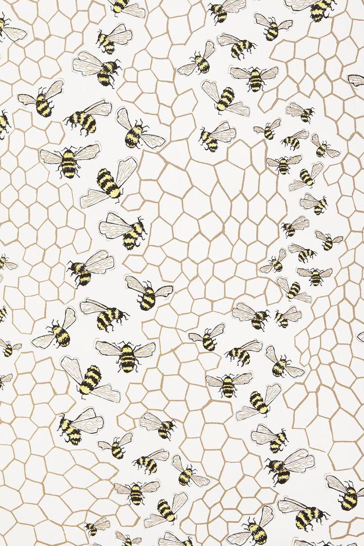 красная, обои пчелы геральдические на стену боб каре