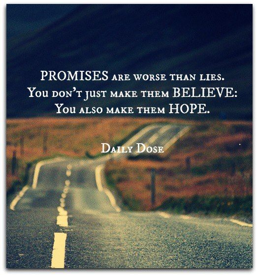 promises vs lies