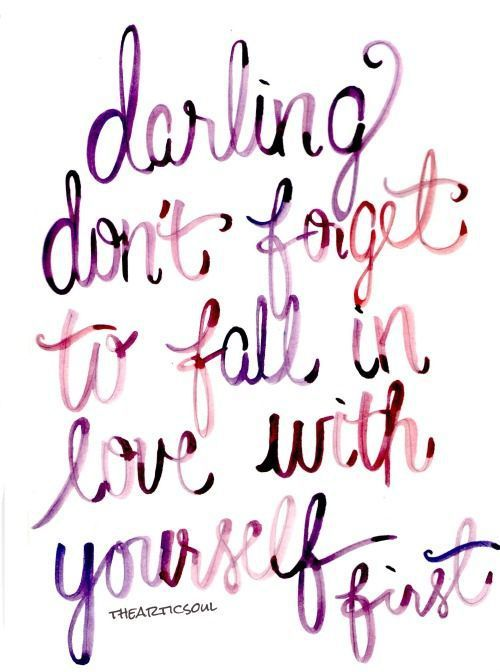 Fall In Love With Yourself First * Your Daily Brain Vitamin * It makes it way easier for someone else to fall in love with you after. Plus, what's not to love? * Love * motivation * inspiration * quotes * quote of the day * QOTD * quote * DBV * motivational * inspirational * friendship quotes * life quotes * love quotes * quotes to live by * motivational quotes * inspirational quotes * TITLIHC