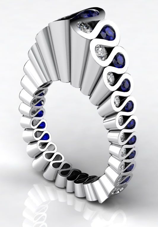 Sapphire and Diamond Ring by Erik Stewart. O.M.G.