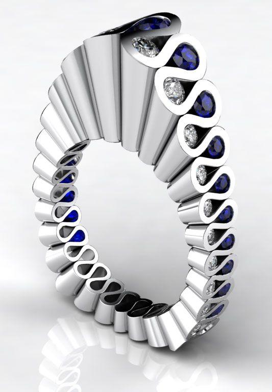 Sapphire and Diamond Ring by Erik Stewart. O.M.G.