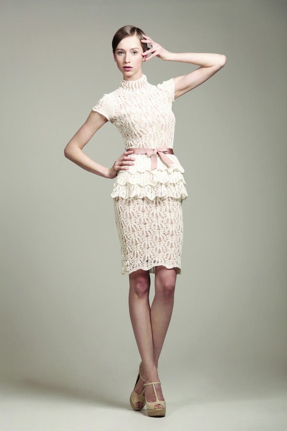 KV Couture, fashion designer Kristina Viirpalu, Rita dress, http://www.kvcouture.eu/haute-couture/ #kvcouture #kristinaviirpalu #knitted #lace #dress #gown #bridal #white