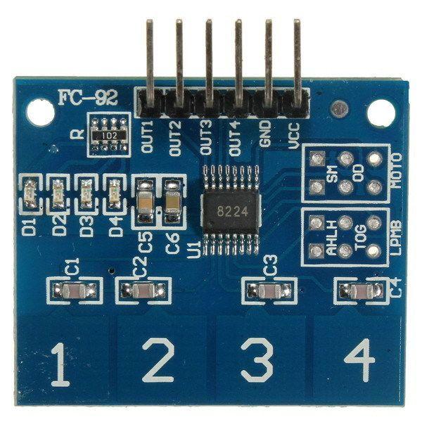 Canal TTP224 4 modulo de comutador de botao de sensor de toque digital de Arduin: Bid: 9,07€ Buynow Price 9,07€ Remaining 00 mins 01 seg
